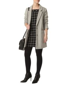 Dorothy Perkins Petite Check Pinafore Dress