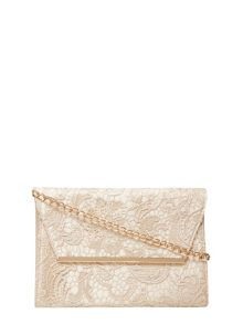 Dorothy Perkins Lace Chain Clutch Bag