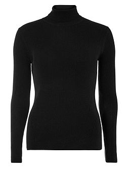 Rib Roll Neck Top