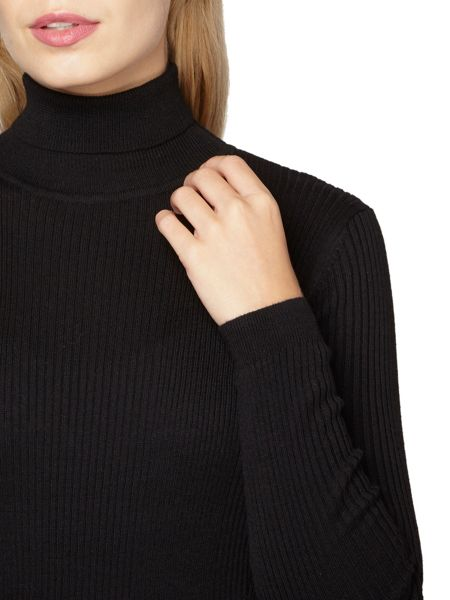 Dorothy Perkins Rib Roll Neck Top