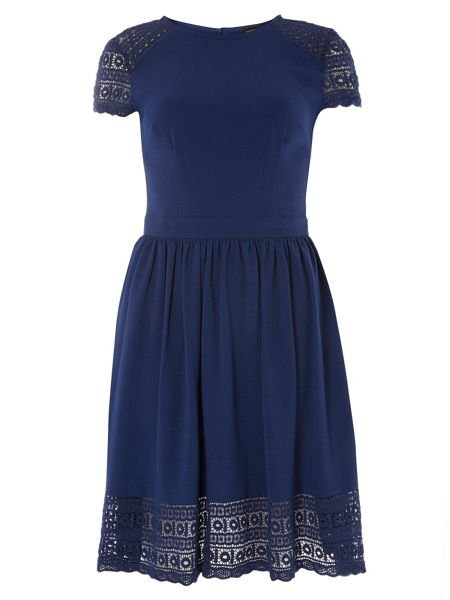 Dorothy Perkins Lace Fit and Flare Dress