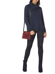 Dorothy Perkins Denim Cosy Wool Mix Roll Neck