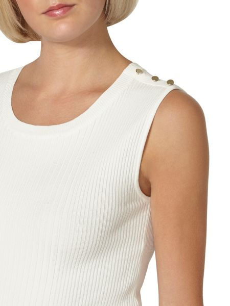 Dorothy Perkins Button Shoulder Shell Top