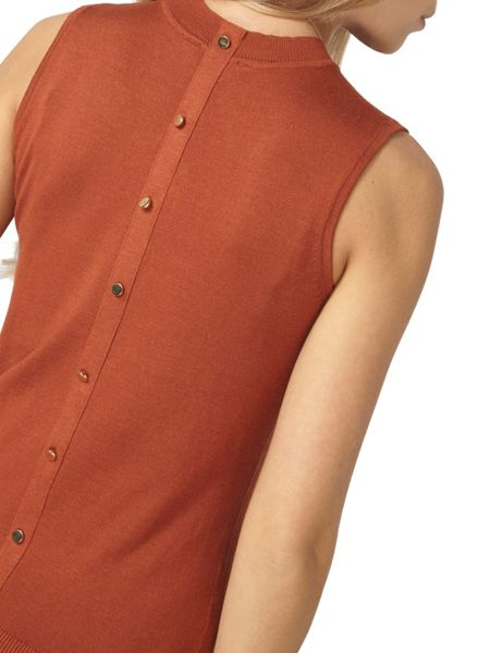 Dorothy Perkins Button Back Shell Top