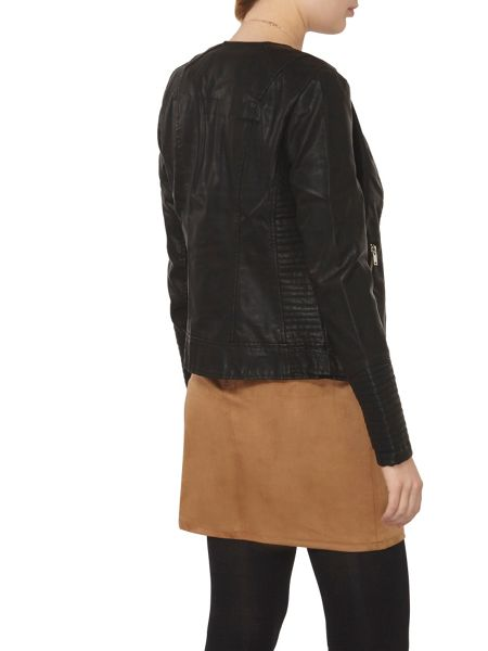 Dorothy Perkins Faux Leather Tab Jacket