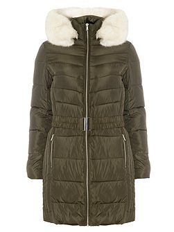 Luxe Belted Padded Coat