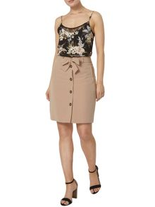 Dorothy Perkins Button Tie Waist Skirt
