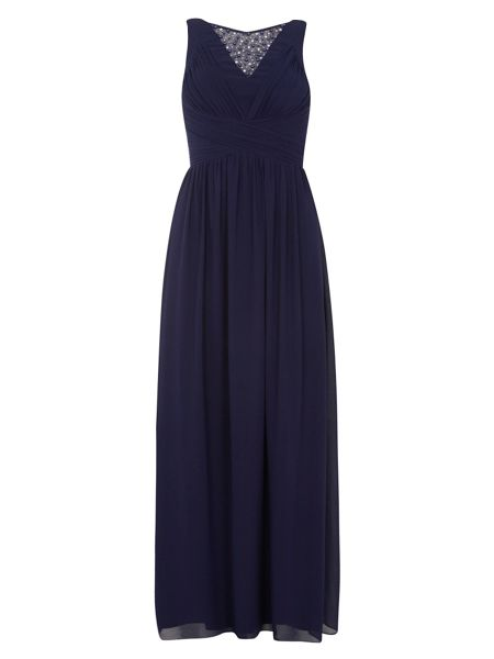 Dorothy Perkins Showcase Embellished Neck Maxi Dress