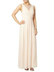 Dorothy Perkins Nude embellished maxi dress