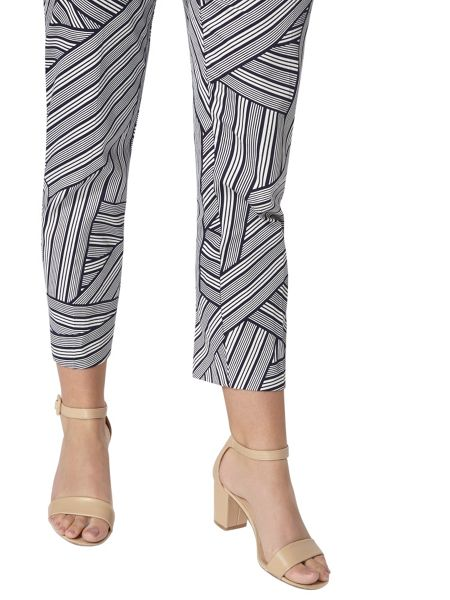 Dorothy Perkins Stripe Print Cotton Crop Trousers