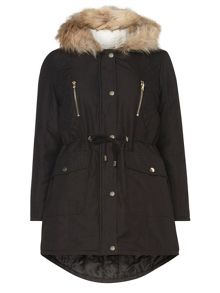 Dorothy Perkins Petite Quilted Parka Coat