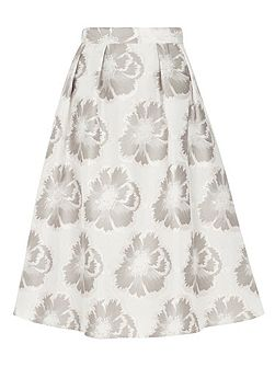 Silver Floral Prom Skirt