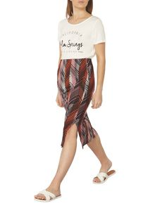 Dorothy Perkins Palm Print Tube Skirt