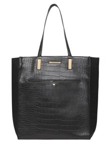 Dorothy Perkins Croc Pocket Shopper Bag