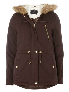 Dorothy Perkins Quilted Short Parka