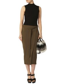 Dorothy Perkins Tie Wrap Column Skirt