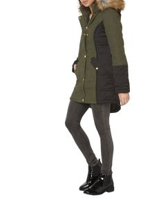 Dorothy Perkins Twill Padded Coat
