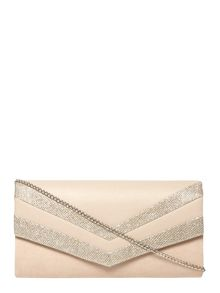 Dorothy Perkins Nude Panel Clutch Bag
