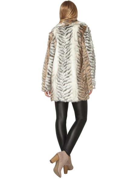 Dorothy Perkins Animal Faux Fur Coat
