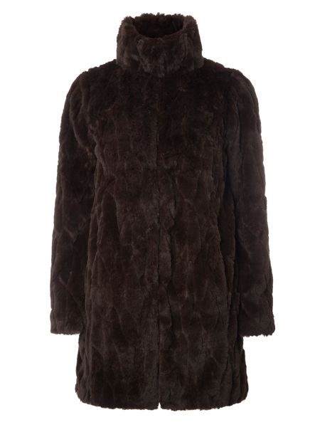 Dorothy Perkins Plush Longline Coat