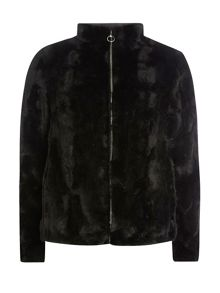 Dorothy Perkins Short Plush Bomber Jacket