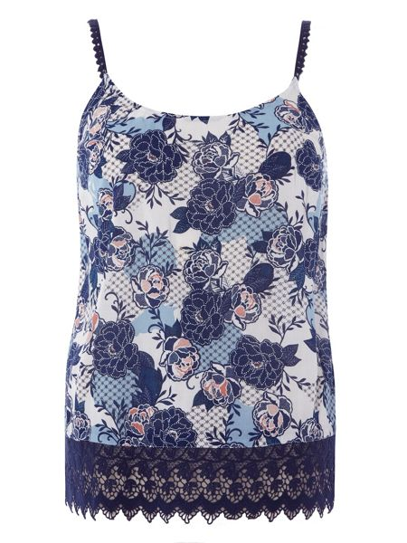 Dorothy Perkins Print Lace Hem Camisole Top