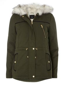 Dorothy Perkins Quilted Short Parka Coat