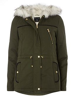 Quilted Short Parka Coat