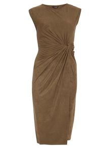 Dorothy Perkins Luxe Suedette Knot Dress