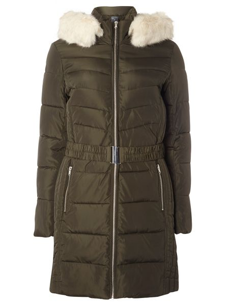 Dorothy Perkins Tall Belted Padded Coat