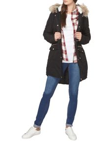 Dorothy Perkins Tall Shine Trim Parka Coat
