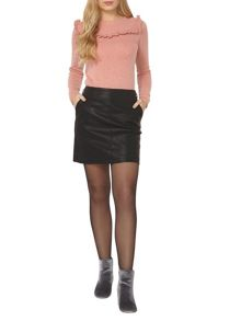 Dorothy Perkins Buckle PU Mini Skirt