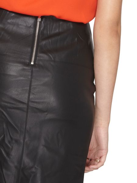 Dorothy Perkins Tall Leather Look Pencil Skirt