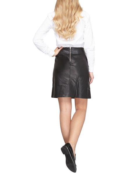 Dorothy Perkins Leather Look A-Line Skirt