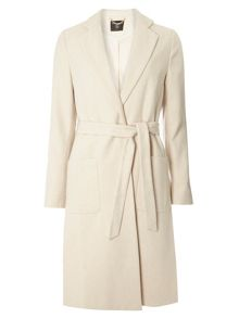 Dorothy Perkins Side Split Tie Crombie Coat