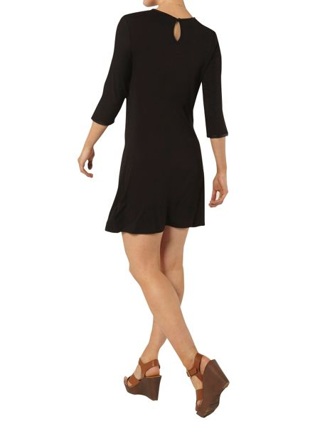 Dorothy Perkins Pu Trim Swing Dress