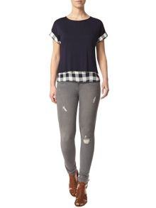 Dorothy Perkins Petite Check 2 in 1 Top