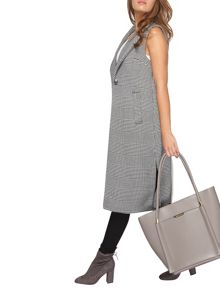 Dorothy Perkins Petite Check Sleeveless Coat