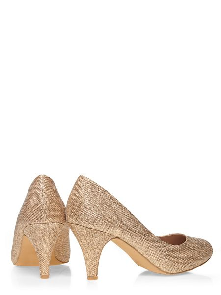 Dorothy Perkins Wide Fit Gold Courts
