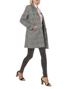 Dorothy Perkins Mono Prince of Wales Checked Coat