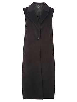 Sleeveless Crombie Coat