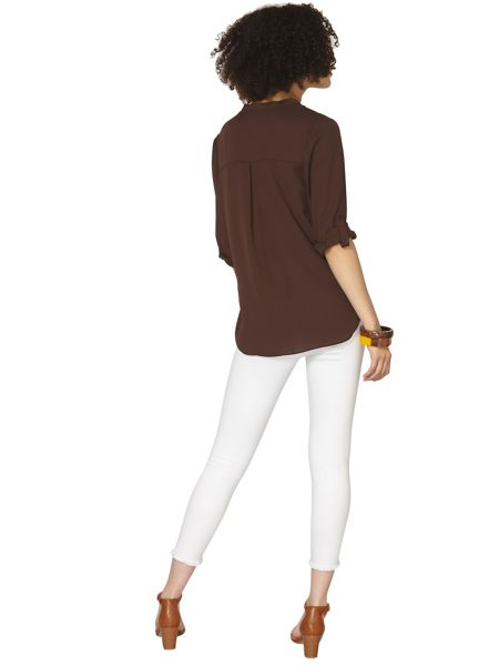 Dorothy Perkins Non Collar 1 Pocket Top