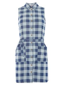 Dorothy Perkins Petite Check Shirt Dress