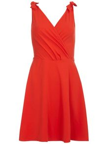 Dorothy Perkins Red bow strap dress