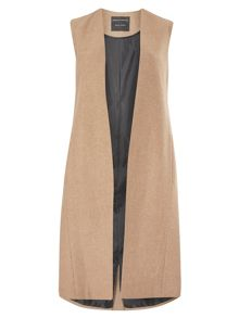 Dorothy Perkins Collarless Sleeveless Jacket