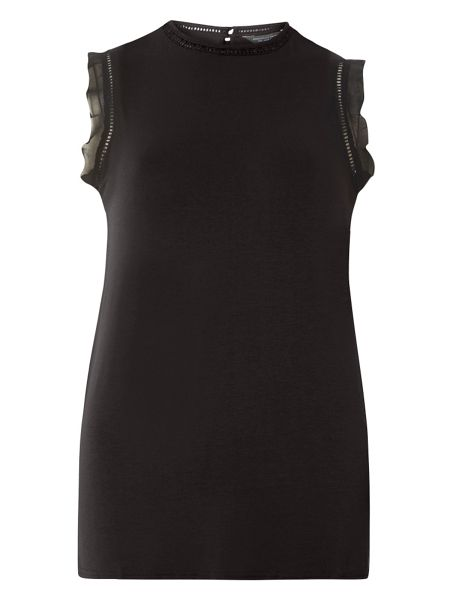 Dorothy Perkins Jersey Ladder Frill Top