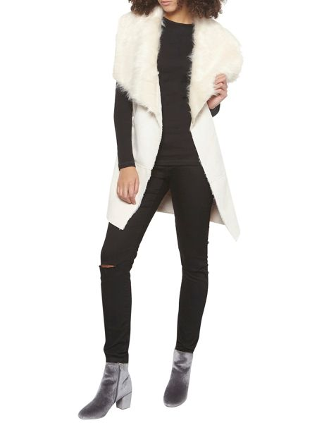 Dorothy Perkins Tall Longline Faux Fur Gilet