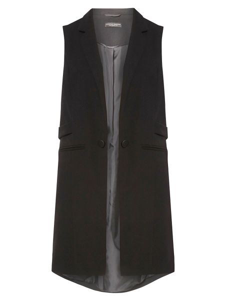 Dorothy Perkins Twill Sleeveless Jacket