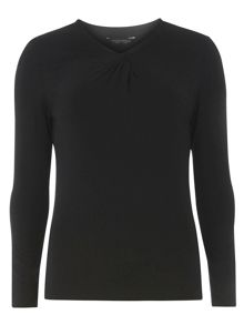 Dorothy Perkins Knot Neck Jersey Top