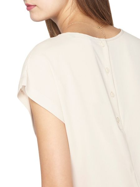 Dorothy Perkins Tall Button Back Woven Tee
